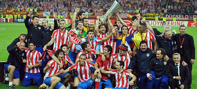 Atletico Madrid Campeón de la Europa Liga 2012 poster