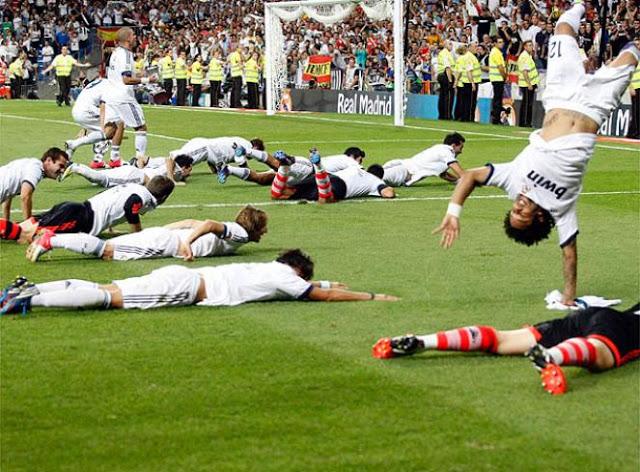 los festejos del campeón real madrid