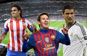 Falcao, Messi y Ronaldo balon de oro 2012