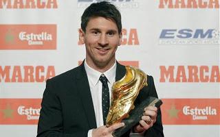 Leo Messi Bota de Oro 2012