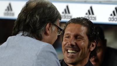 Tata Martino y el cholo Simeone supercopa 2013