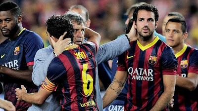 El tata Martino felicita a sus jugadores supercopa