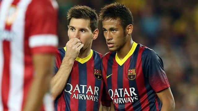 Messi y Neymar supercopa
