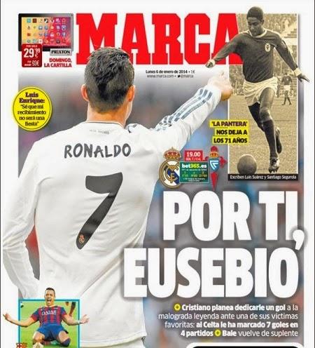 Portada periódico Marca 6/1/2014