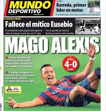 Portada Mundo Deportivo 6/1/2014