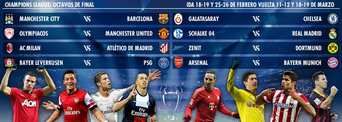 Octavos Champions League 2013-2014-Calendario - Liga Española 2018 ...