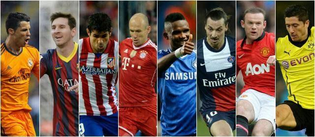 Los ocho clasificados para Cuartos de Final: Champions 2013-2014
