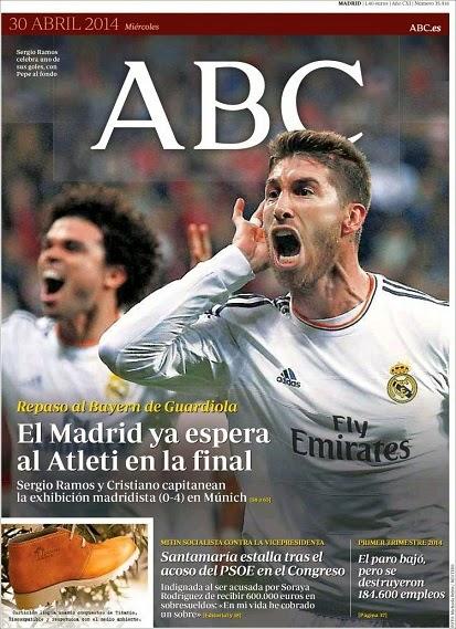 Portada ABC Bayern Munich 0-Real Madrid 4