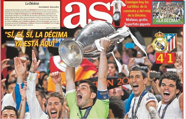 Portada As Real Madrid campeón Champions 2014