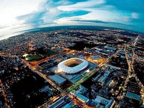 Estadio Arena da Amazônia, Manaos. Sede del Mundial de Brasil 2014