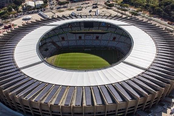 Estadio Mineirão, Belo Horizonte paneles solares