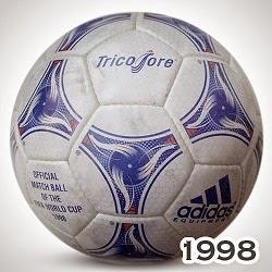 Balón Mundial Francia 1998 tricolore