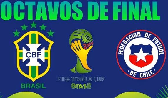Alineación y la previa Brasil-Chile. Octavos de final