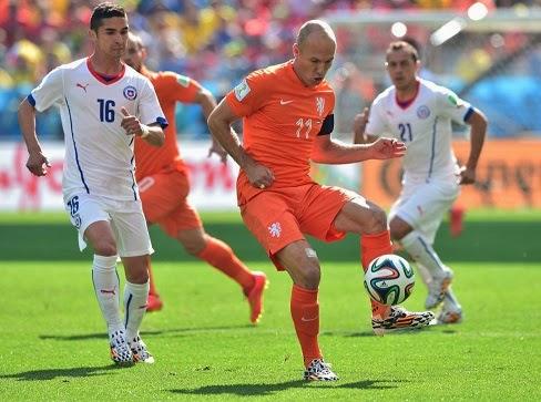 Holanda 2-Chile 0. Mundial Brasil-Grupo B