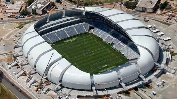 Estadio das Dunas, Natal. Sedes del Mundial de Brasil 2014