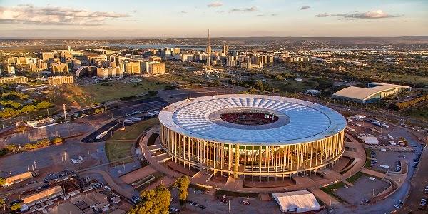 Estadio Mané Garrincha, Brasilia. Sedes del Mundial