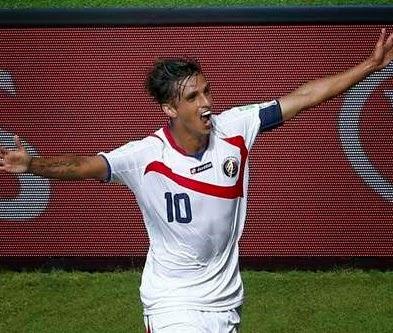 Bryan Ruiz festeja su gol Italia 0-Costa Rica 1. Mundial Brasil-Grupo D