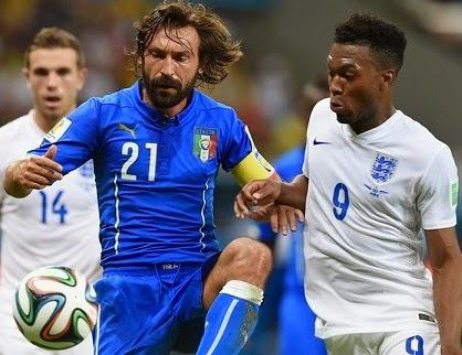 Inglaterra 1-Italia 2. Mundial Brasil-Grupo D