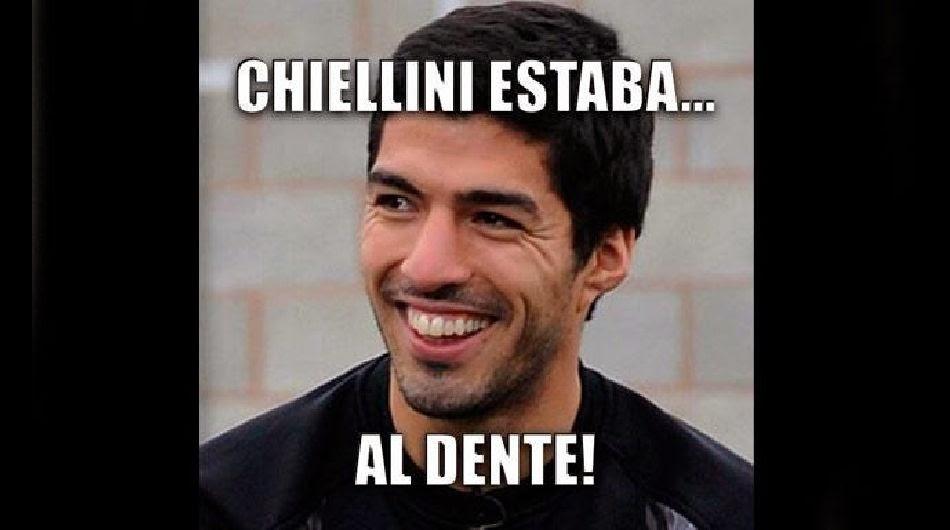 Los mejores chistes y memes de Italia-Uruguay: Mundial Brasil luis suarez mordisco chiellini