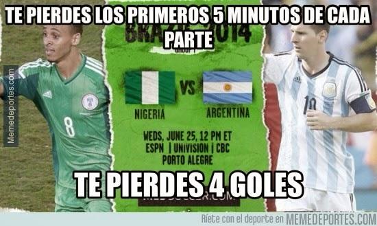 Los mejores chistes y memes de Argentina-Nigeria: Mundial Brasil