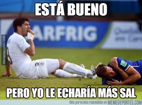 Los mejores chistes y memes de Italia-Uruguay: Mundial Brasil mordisco luis suárez