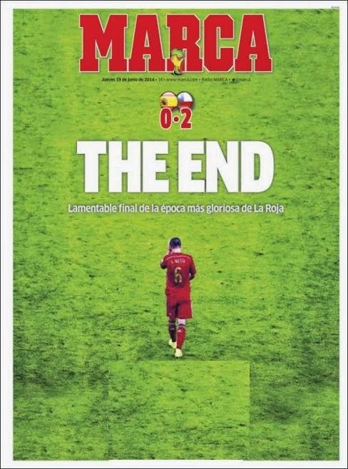 España eliminada; adiós al Mundial: Las portadas