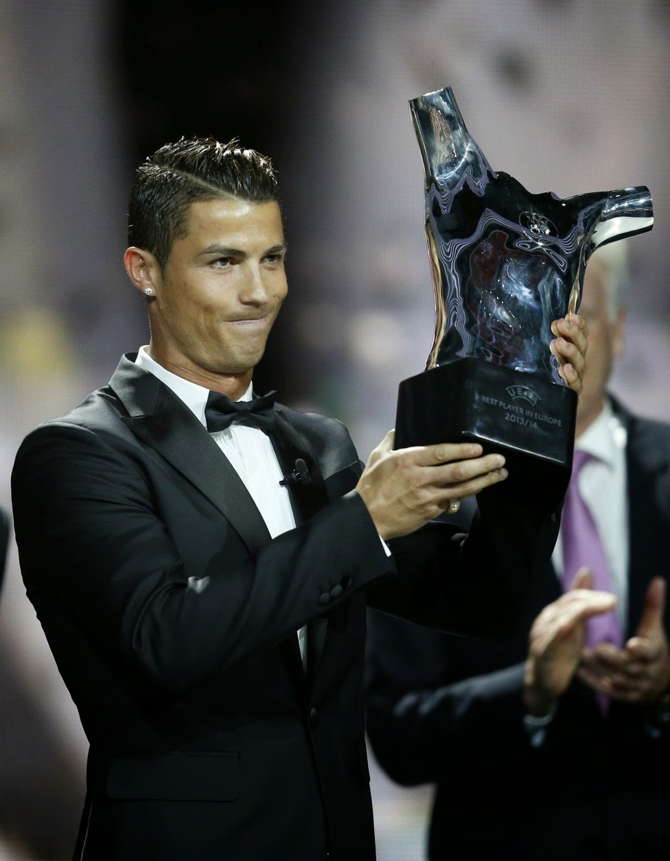 Cristiano Ronaldo uefa best player 2014