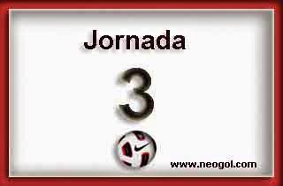 Partidos Jornada 3. Liga Española BBVA 2014-2015