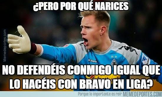 ter stegen Los mejores memes del PSG-Barcelona: Champions