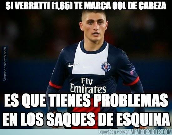 Los mejores memes del PSG-Barcelona: Champions verratti