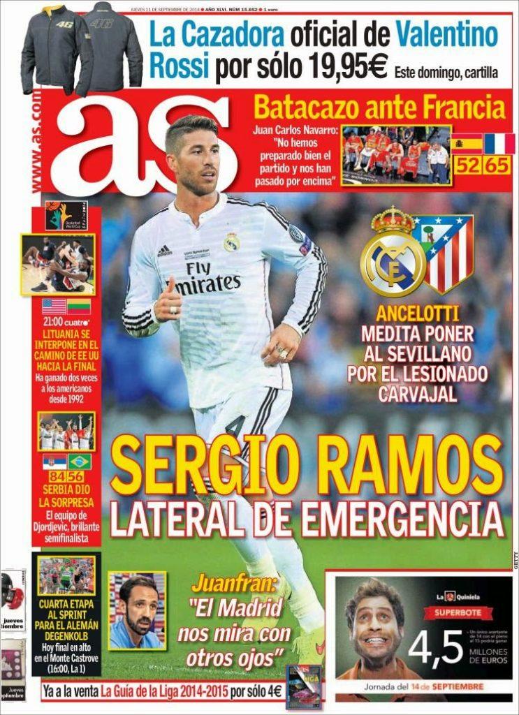 Portada AS: Sergio Ramos
