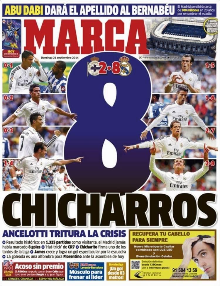 8 chicharros de un real madrid de leyenda las portadas for Marca resultado madrid