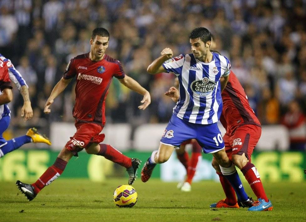 Deportivo Coruña 1-Getafe 2. Jornada 10 Liga Española