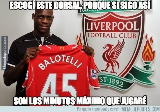 Los mejores memes del Liverpool-Real Madrid: Champions balotelli