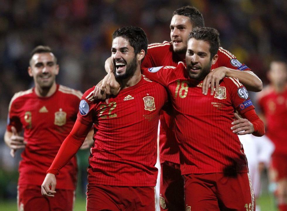 España 3-Bielorrusia 0. Eliminatoria Euro 2016