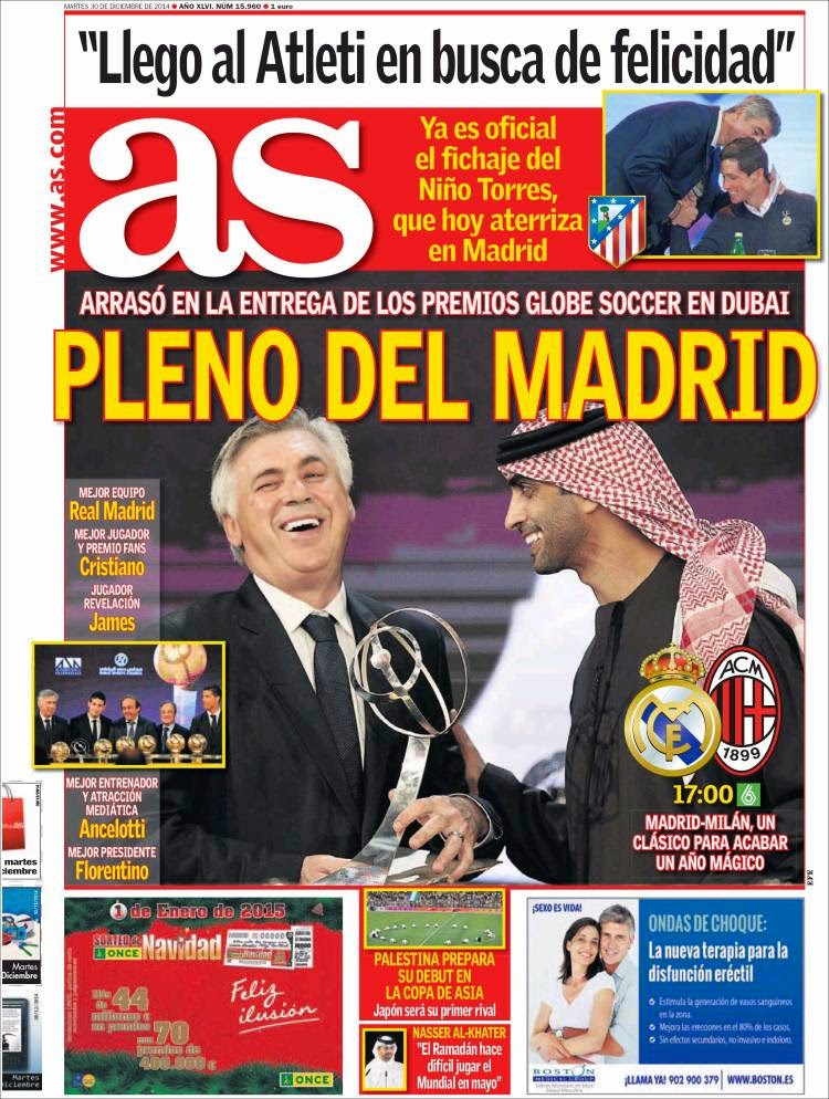 Portada AS: Pleno al Madrid