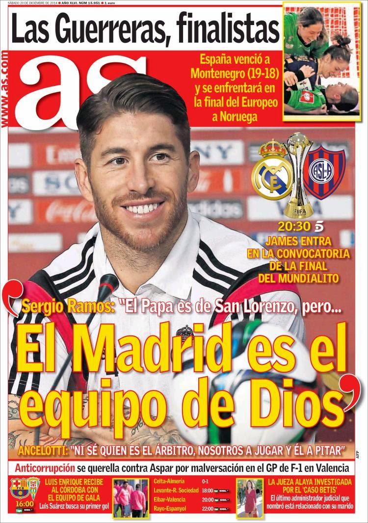 El madrid es el equipo de dios hoy la final del for Televisan el madrid hoy
