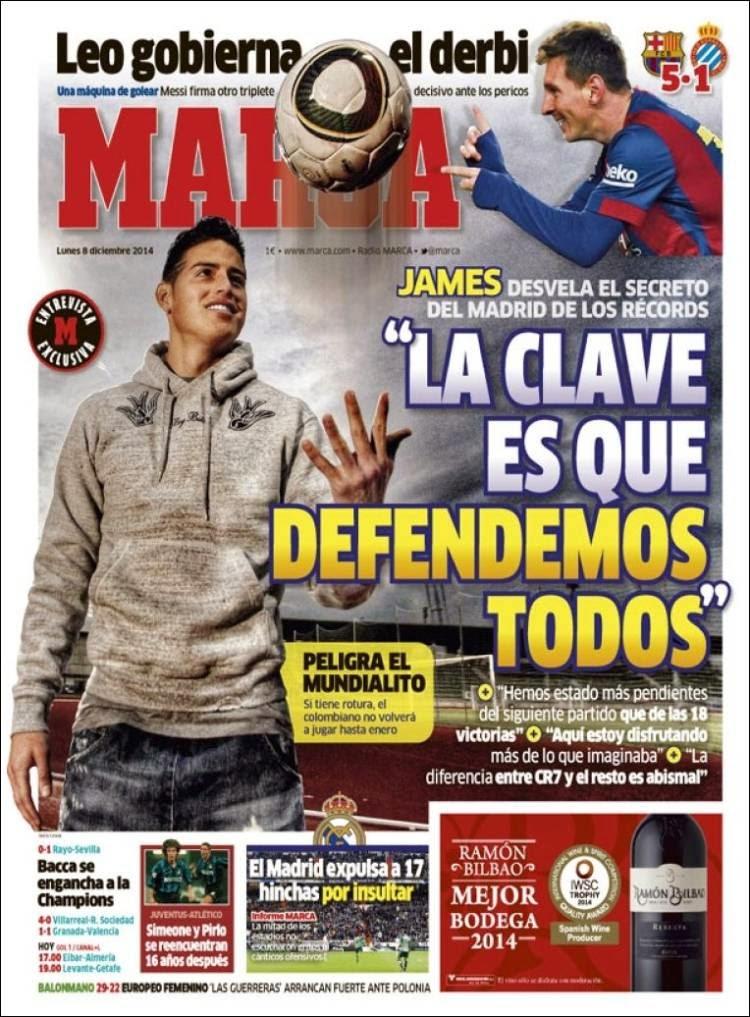 Portada Marca: Entrevista a James Rodríguez