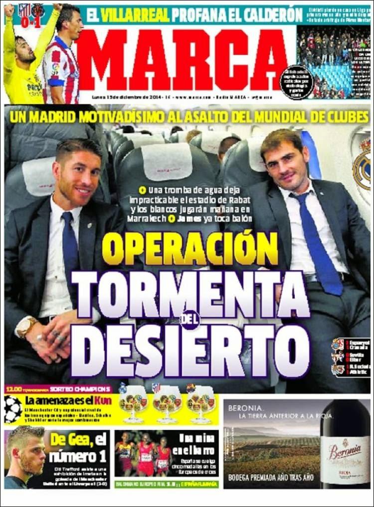 Portada Marca: El Madrid a punto para el Mundial de Clubes