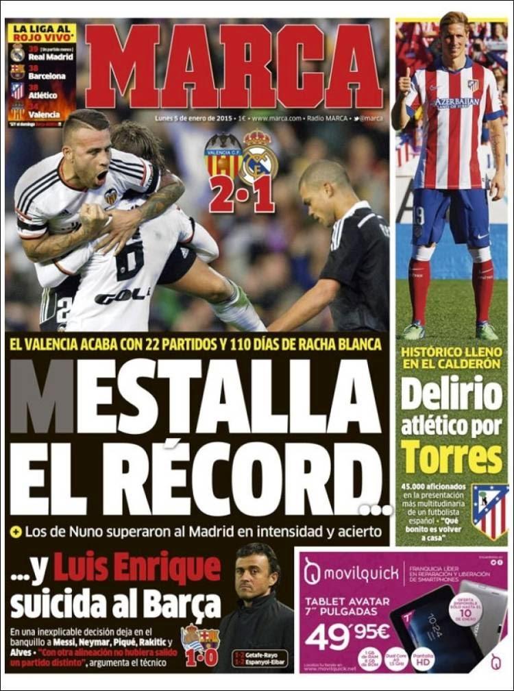El record del madrid queda en 22 luis enrique tira los for El marca del madrid