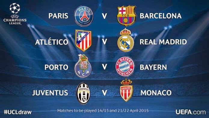 Cuartos champions league 2014 2015 calendario liga for Cuartos final champions 2014