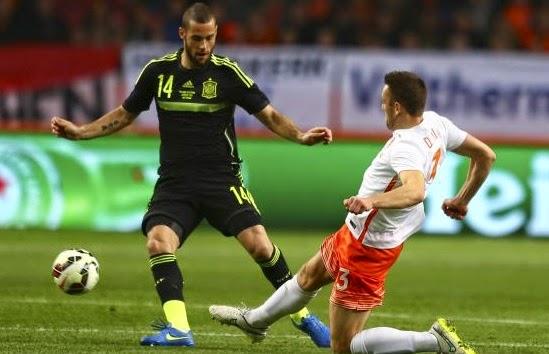Holanda 2-España 0. Amistoso internacional
