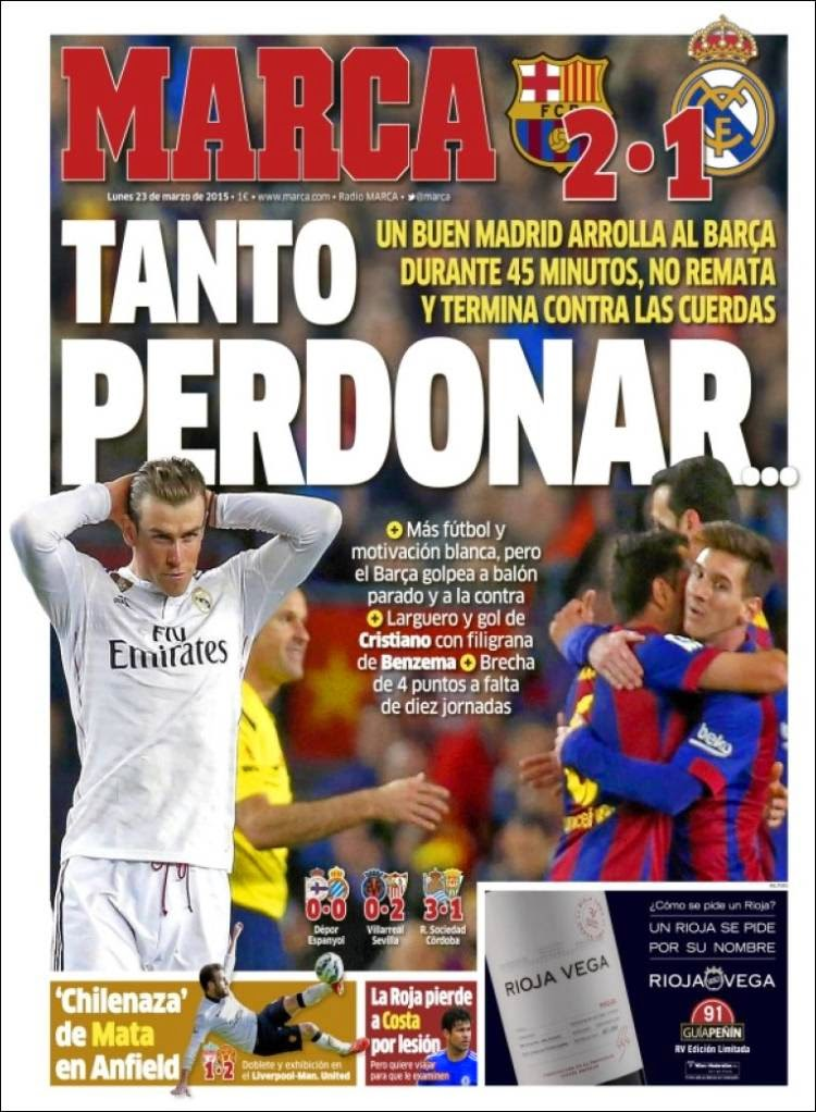 El bar a da un golpe de campe n el madrid perdon y lo for Madrid sevilla marca
