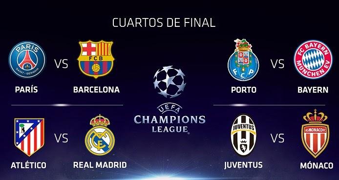 cuartos champions league 2015 partidos de ida mundial