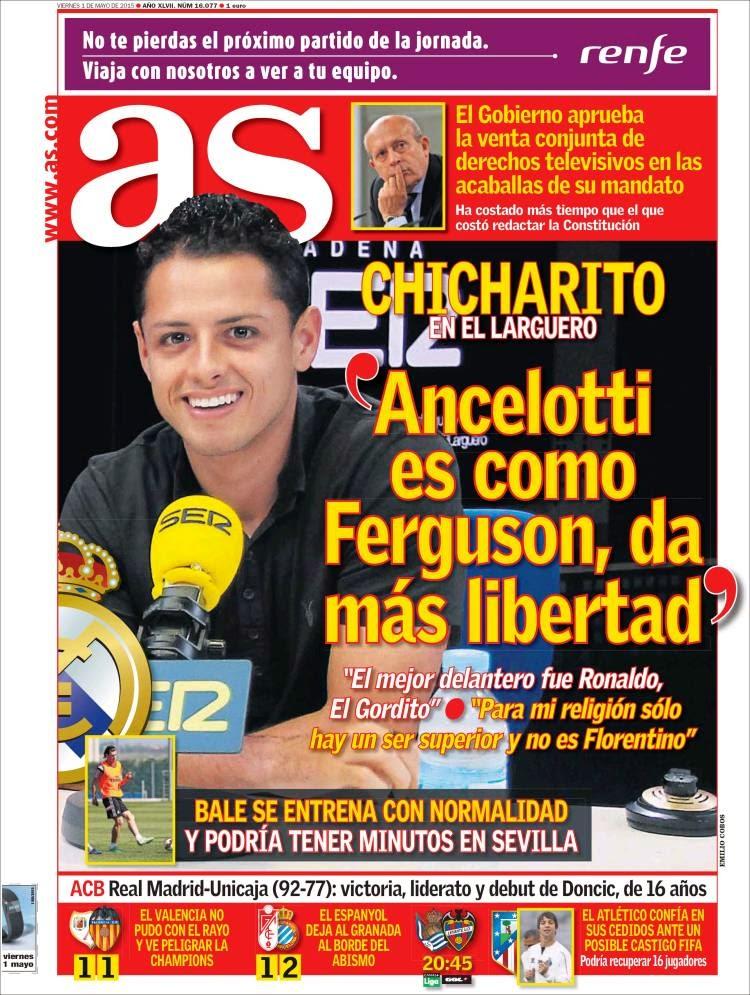 Portada AS: Chicharito Hernández