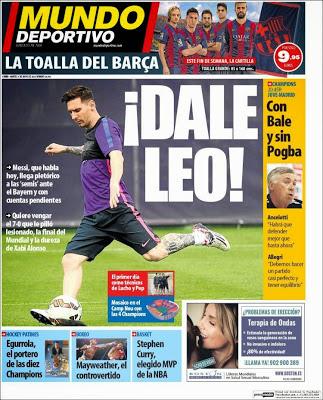 Portada Mundo Deportivo: ¡Dale Leo!