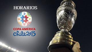 Horarios partidos Jornada 2 Copa América chile 2015