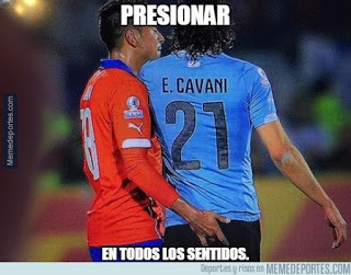 Los mejores memes del Chile-Uruguay. Copa América  cavani jara dedo culo