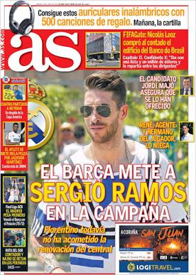 Neymar dice adiós a la Copa, el Barça tienta a Ramos: las portadas - Liga Española 2018