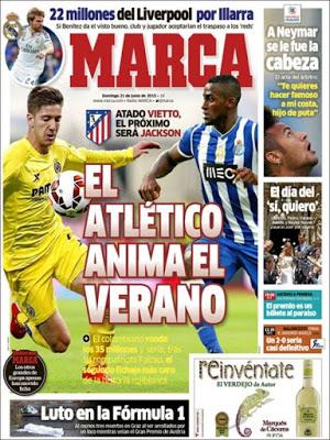 Portada Marca. el Atlético ficha a Vietto